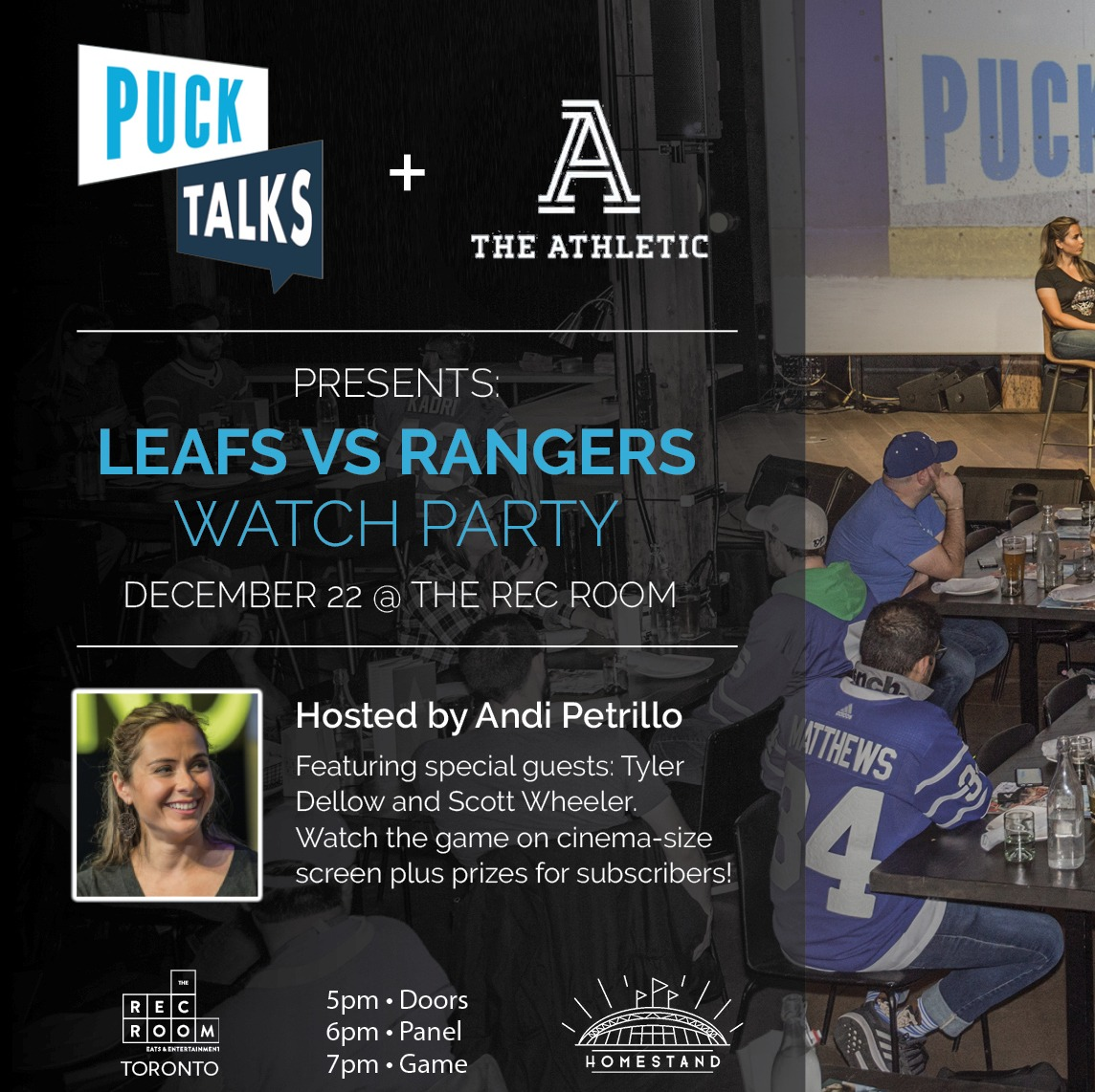 LEAFS-RANGERS WATCH PARTY
